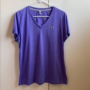 Under Armour purple tee size L